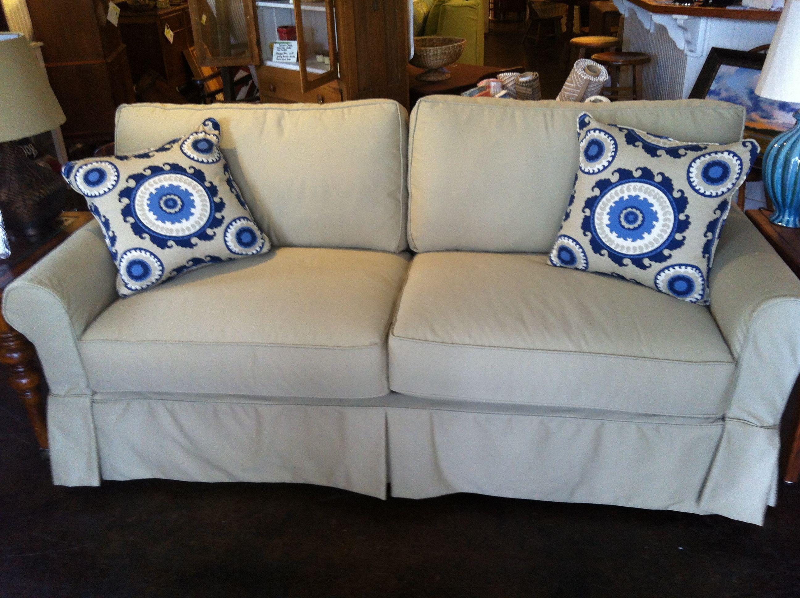 Home Goods Sofa Covers Black Faux Leather Sleeper Four Seasons Alexandria Slip Covered Furniture