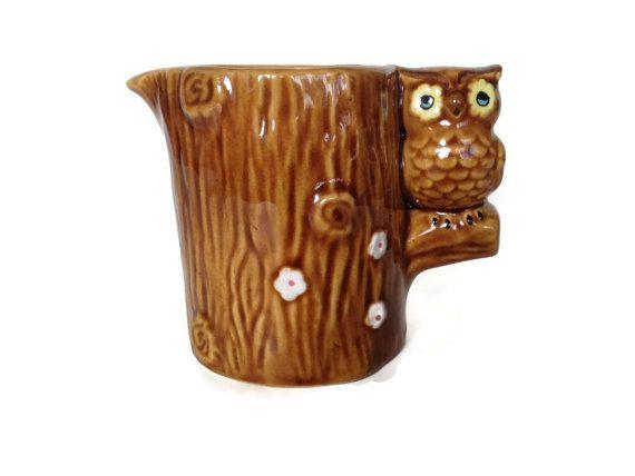 Vintage Owl Creamer, Ceramic Owl | Ceramic owl, Vintage ...