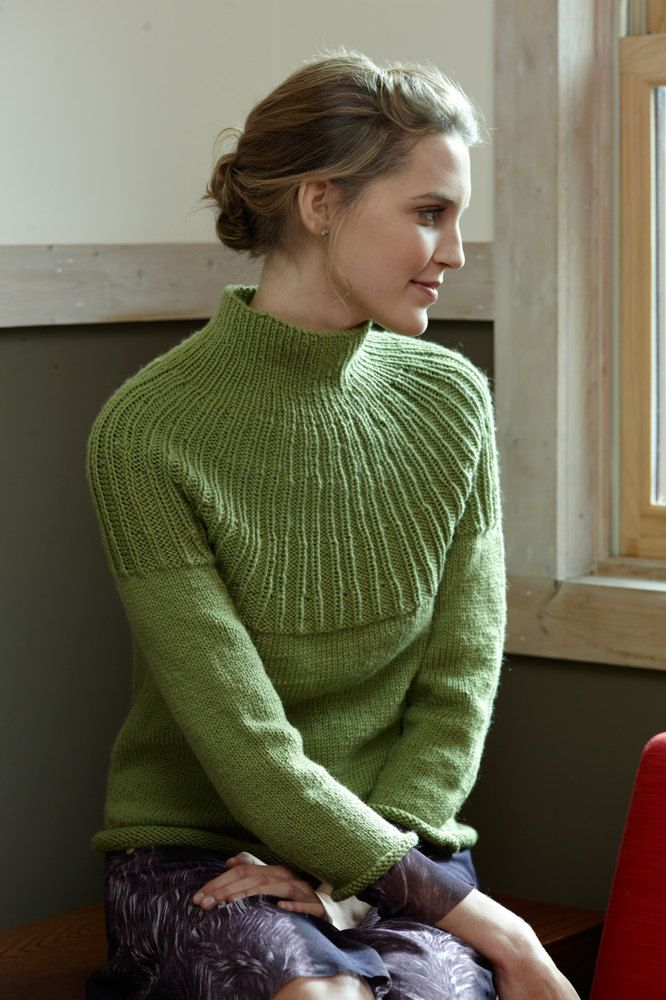 Top Down Pullover In Lion Brand Superwash Merino Cashmere L0580