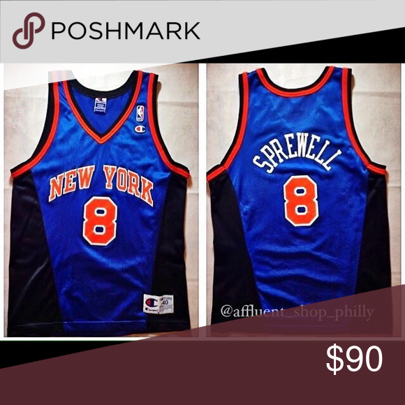 sports shoes 8b1c6 7a3ea Vintage NY Knicks Champion Jersey Vintage Champion New York ...