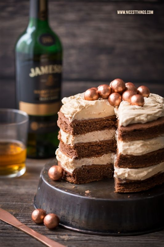 Photo of Whiskey cake with whiskey-chocolate cake and caramel cream – nicest things