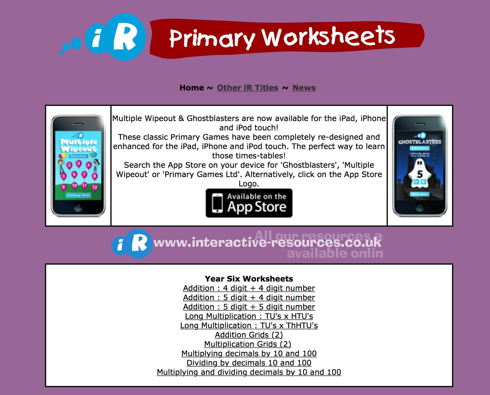 Primary Worksheets - Maths | E-Learning: Mathematics | Pinterest ...