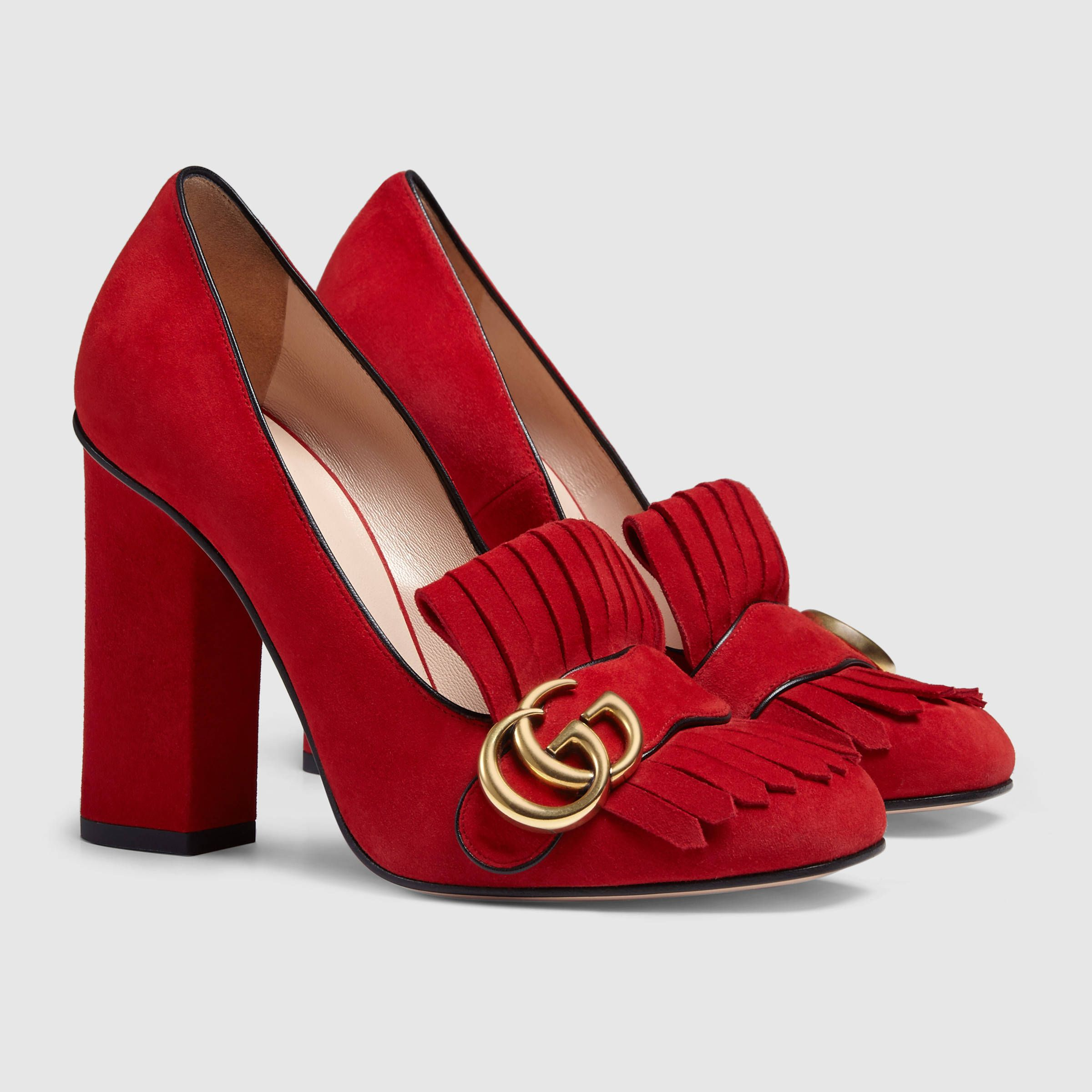 a89c06f13 Gucci Women - Gucci Red Suede pumps - $790.00 | ***GUCCI FASHION ...