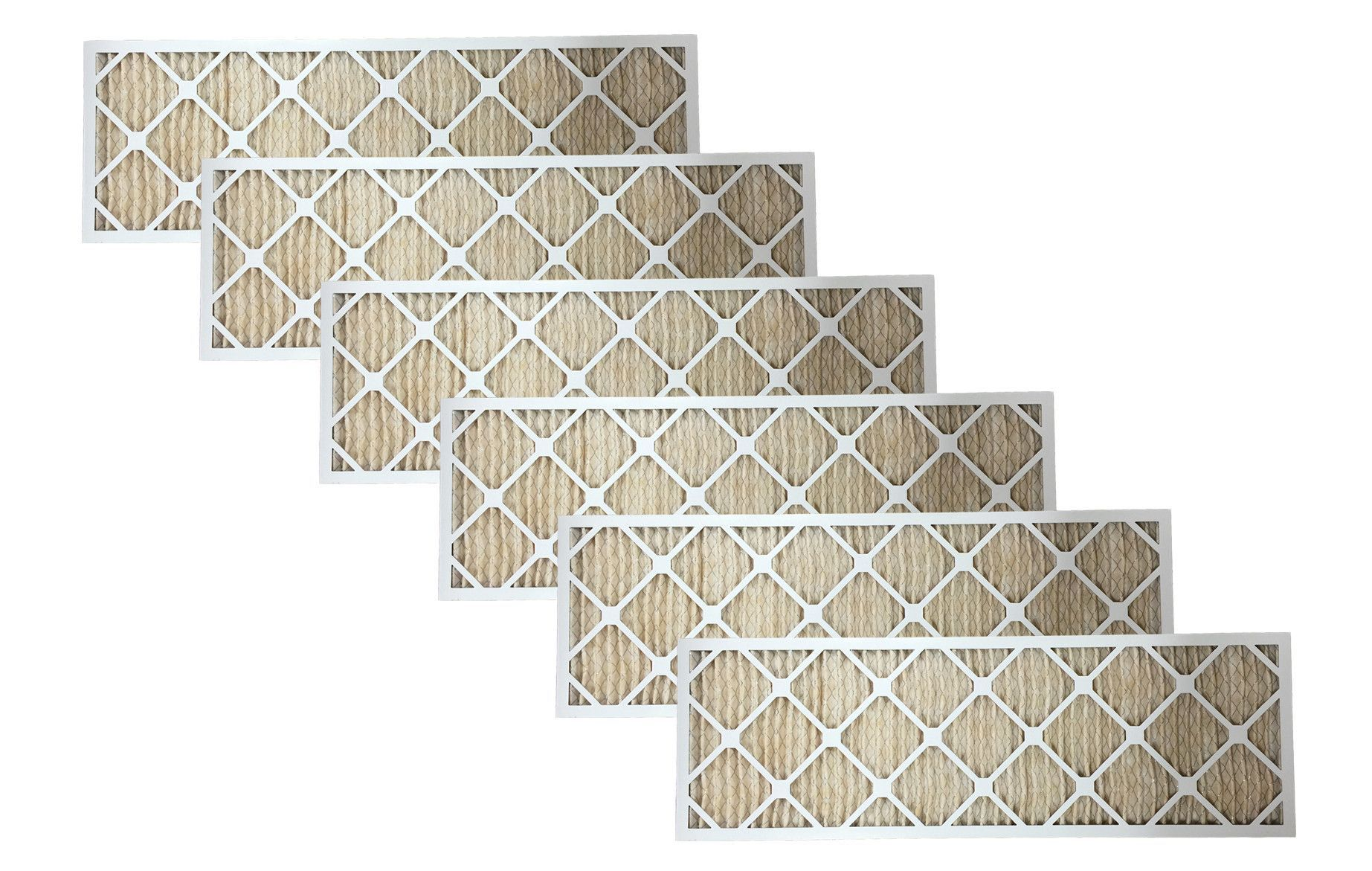 6 Furnace Filters, Rated MERV11, Approx. Size 12x36x1