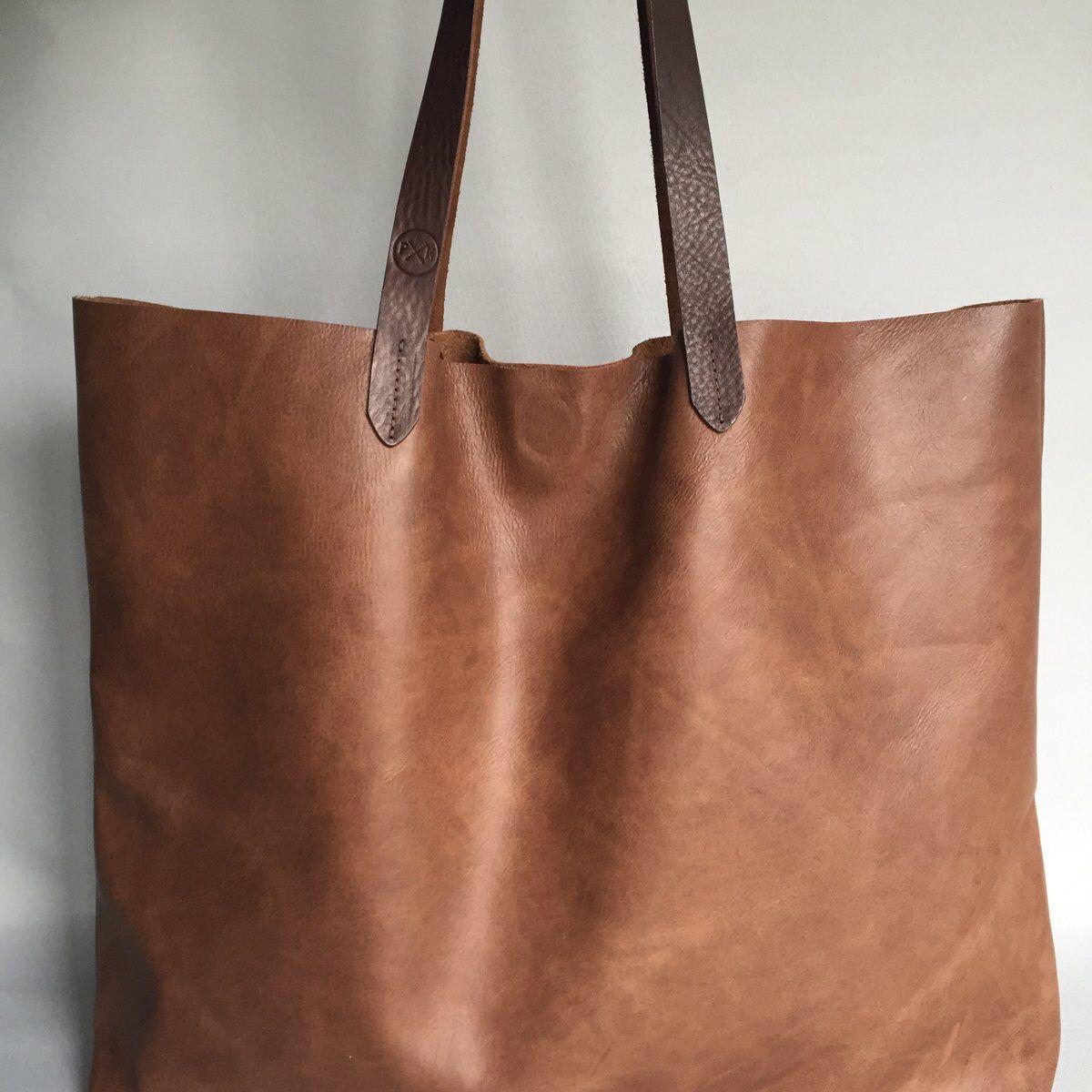 Soft Brown Vintage Distressed Leather Tote Bag 120 Pkirkwood