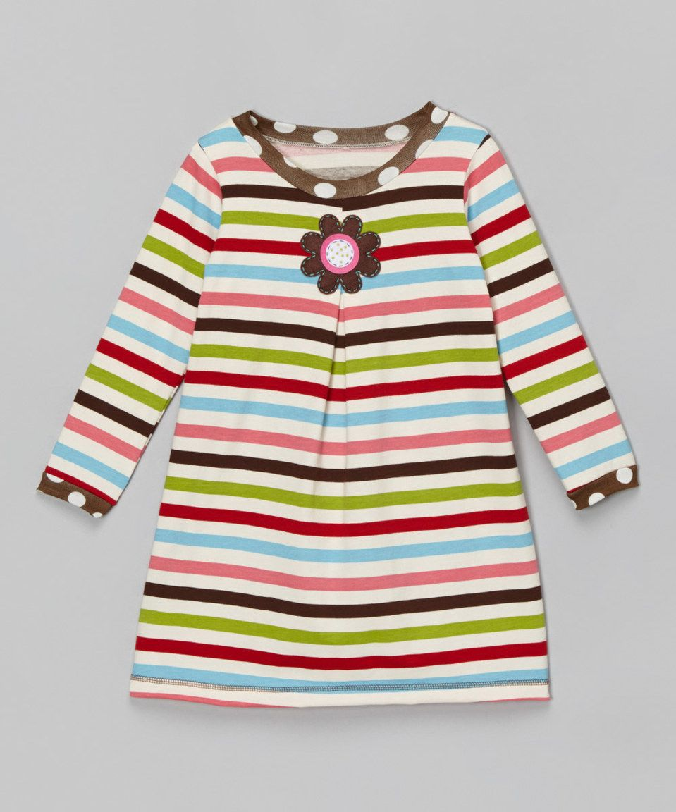 Another great find on zulily pink u green stripe swing dress