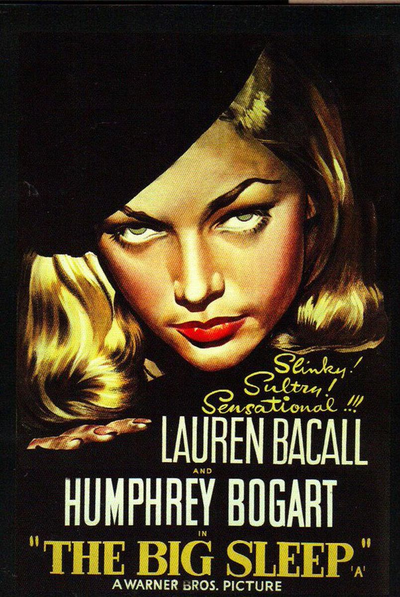 The Big Sleep 1946 Humphrey Bogart Lauren Bacall John