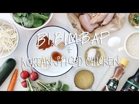 Bibimbap with Korean-Spiced Chicken ∙ AD   heyclaire - YouTube I love Claire Marshall and this looks so good!!