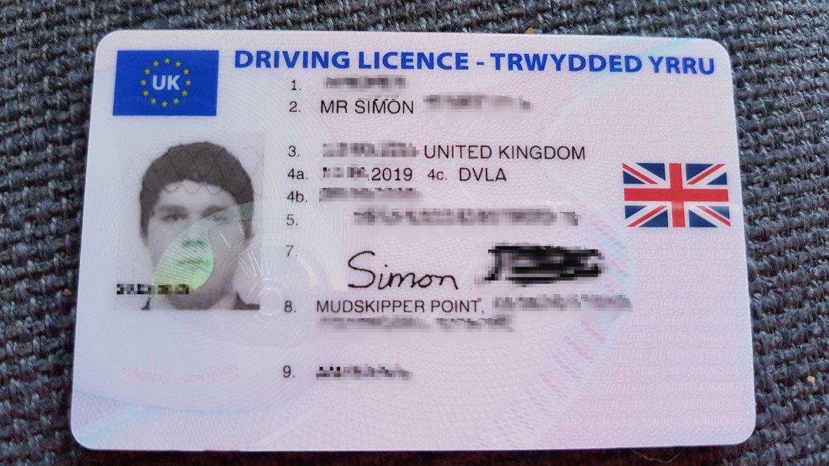 Driver's license United Kingdom in 2020 Drivers license