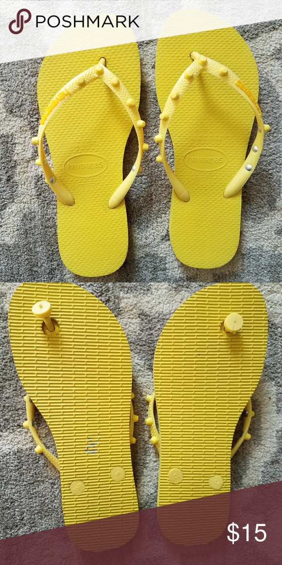 84a47a23bd82f6 New Flip flops New never worn yellow flip flops Havaianas Shoes Sandals