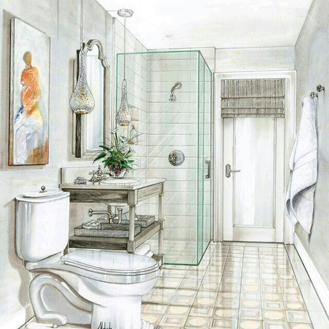 architectural drawings bathrooms