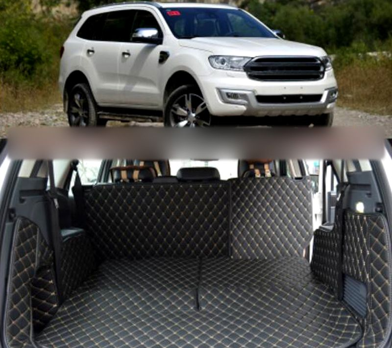 New For Ford Everest Suv 4dr 2015 2016 2017 Car Styling Leather Accessories Boot Carpets Trunk Mats 7p Leather Accessories Interior Accessories Suv