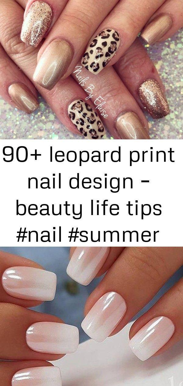 90 Leopard Print Nail Design Beauty Life Tips Nail Summer Design Gel P Chromenails 90 Leopard Print Nail Desig Nails Leopard Print Nails Red Nails