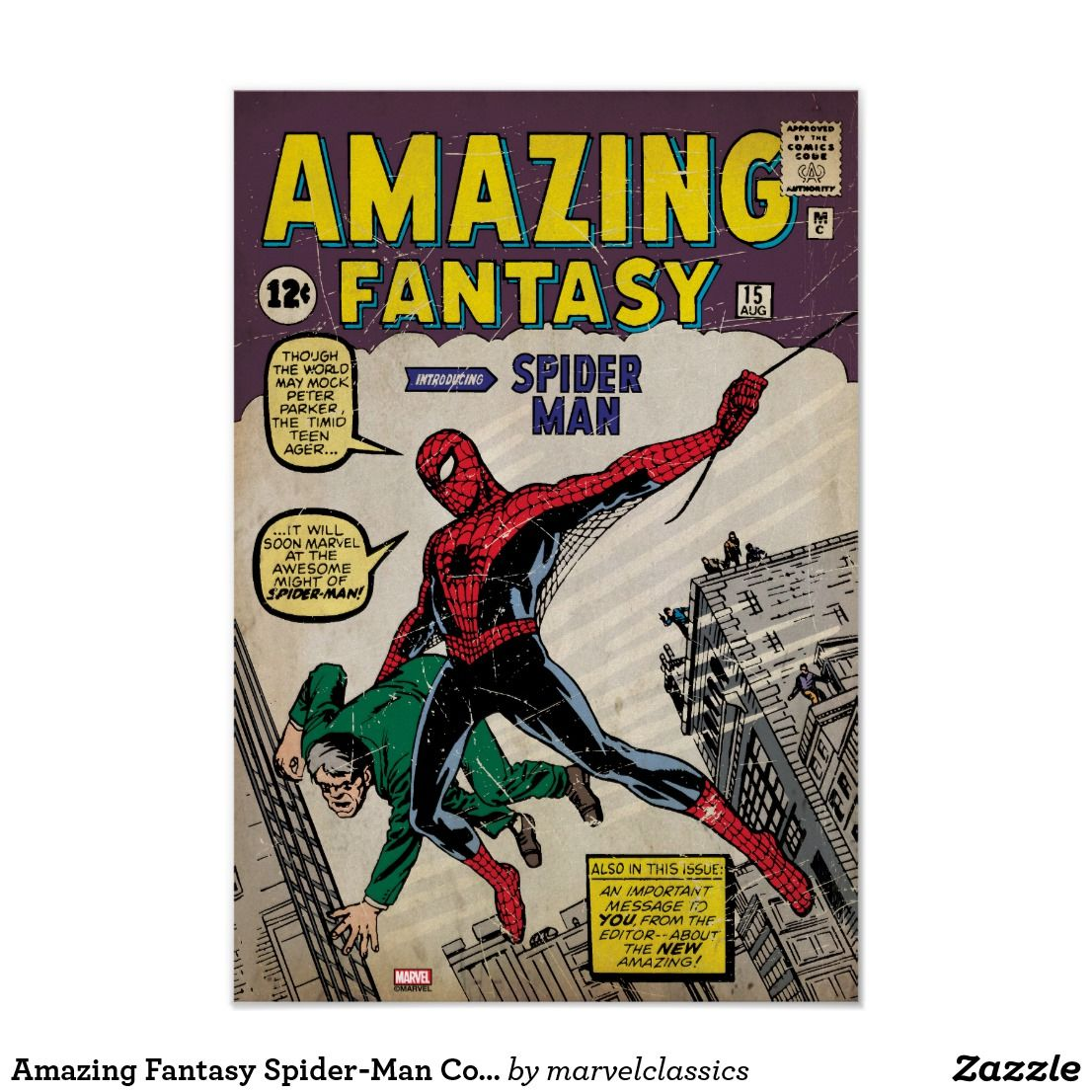 Spider Man Issue Comic Cover Giant Wall Decal By: RoomMates Part 88