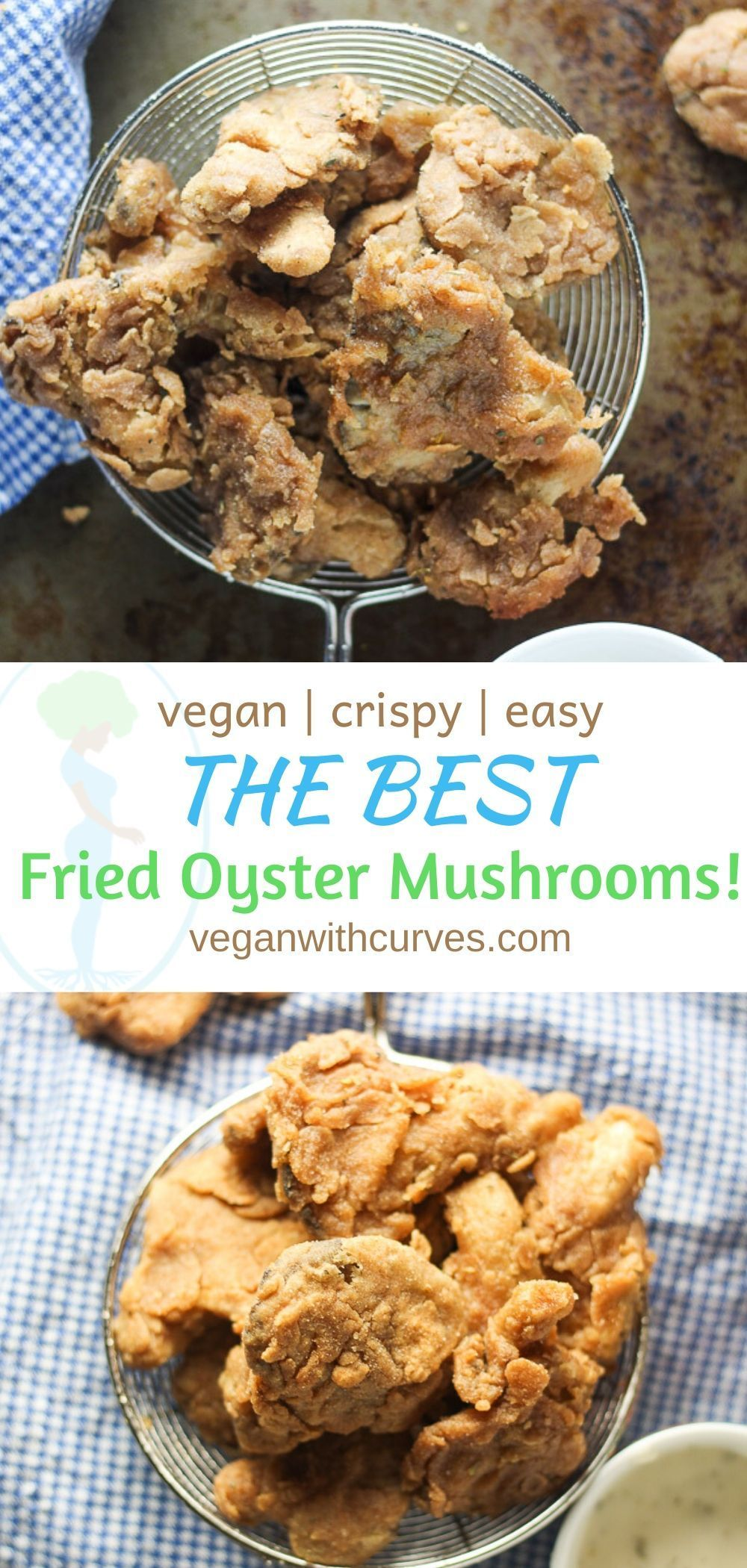Addicting Fried Oyster Mushrooms Fried Chicken Substitute Recipe In 2020 Vegan Appetizers Recipes Mushroom Recipes Vegan Vegan Chicken Recipes