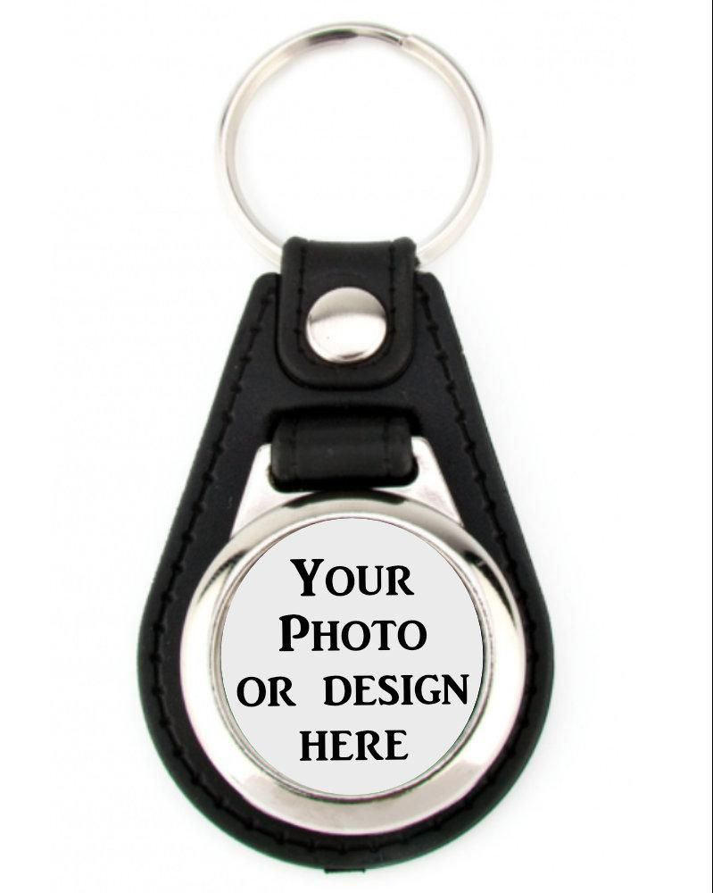 Photo key-chain - round circle with leather backing  #gift #design #birthday #gifts #giftguide #giftideas #handmade #art #designtimegnc #gifting