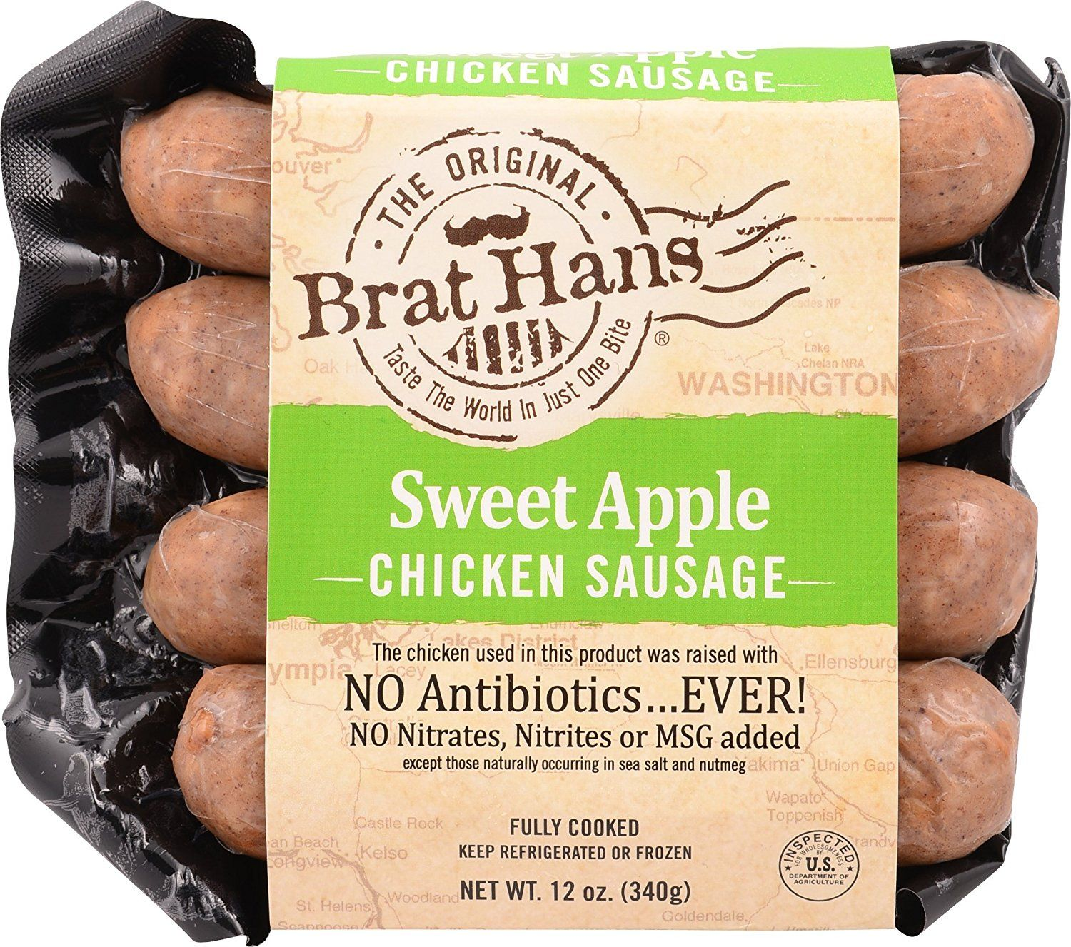 The Original Brat Hans Sausage Chicken Apple 12 Ounce Amazon