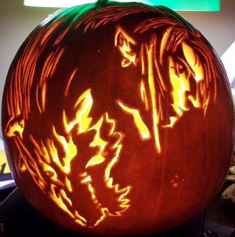 pumpkin template anime  6 Pumpkin Carving Ideas for Halloween | Pumpkin carving ...