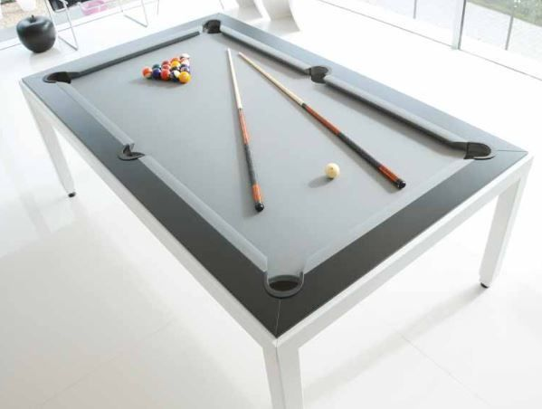 Details About Aramith White Powder Coated Fusion Pool Billiards Table With Wood Top Fusion Tables Pool Table Pool Table Dining Table