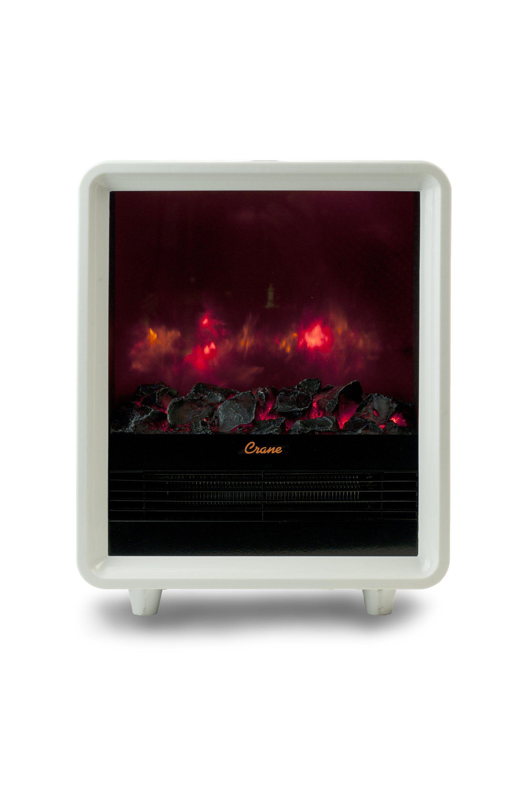 Amazon Com Crane Mini Fireplace Heater White Space Heaters