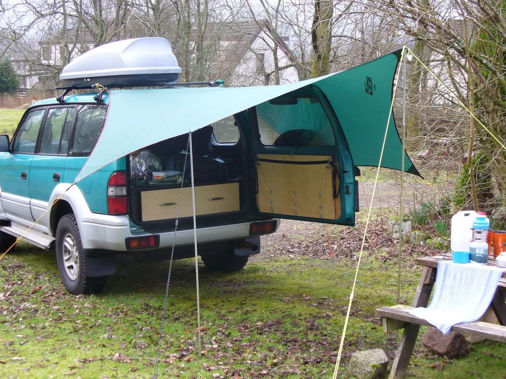 Awnings Off A Roof Rack Suggestions And Pictures Please Roof Rack Diy Awning Awning