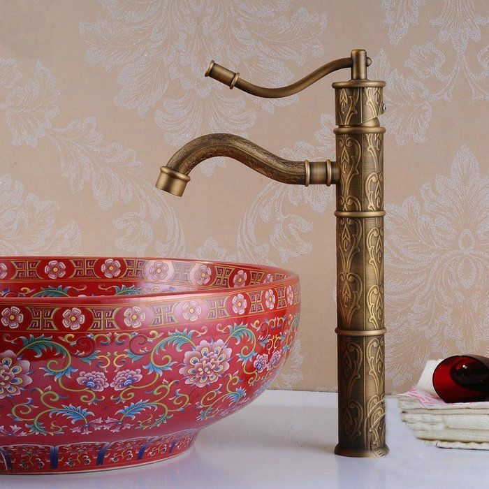 Luxury Bathroom Kitchen Basin Faucet Antique Brass Sink
