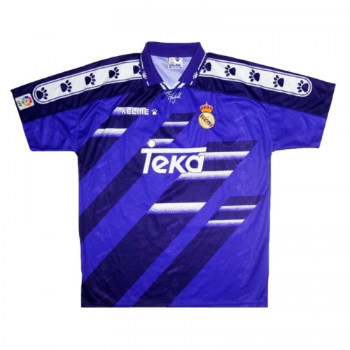 Real Madrid Retro Soccer Jersey Away Replica 1994/96 | Soccer ...