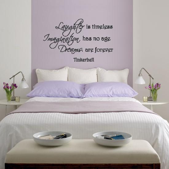 Wall Lettering Tinkerbell Laughter Is Timeless Imagination Has No Age Quote Words On Etsy 10 99