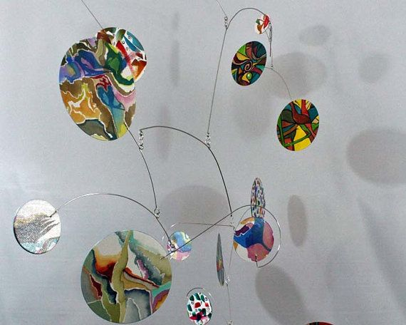 Sculture mobili ~ Large mobile sale abstract paintings hanging kinetic sculpture