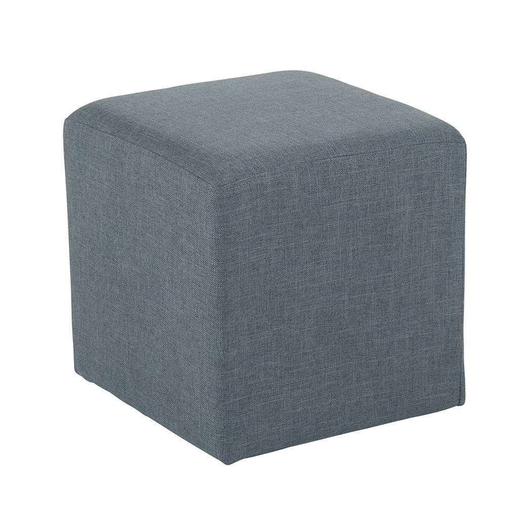 Pouf cube tissu gris STONE Infos et Dimensions Longueur