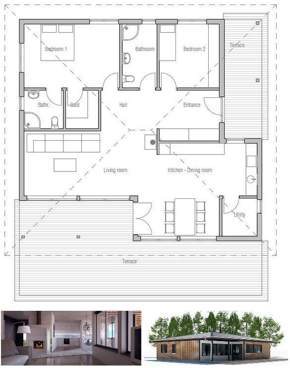 Small House Ch213 House Plans Small House Small House Plans