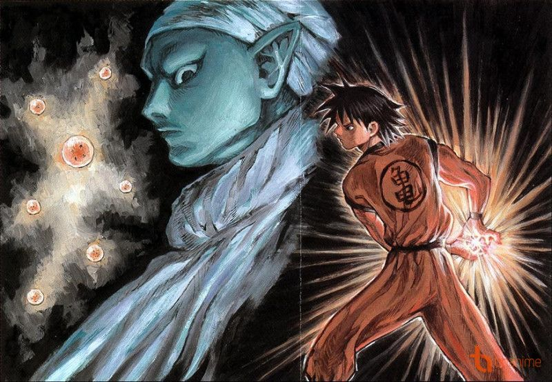 "Dragon Ball drawn by Norihiro Yagi (""Angel Densetsu"