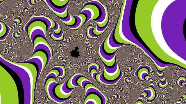This is not an animated gif, and nothing is actually moving. It's all in your head. Your trippy, trippy head.