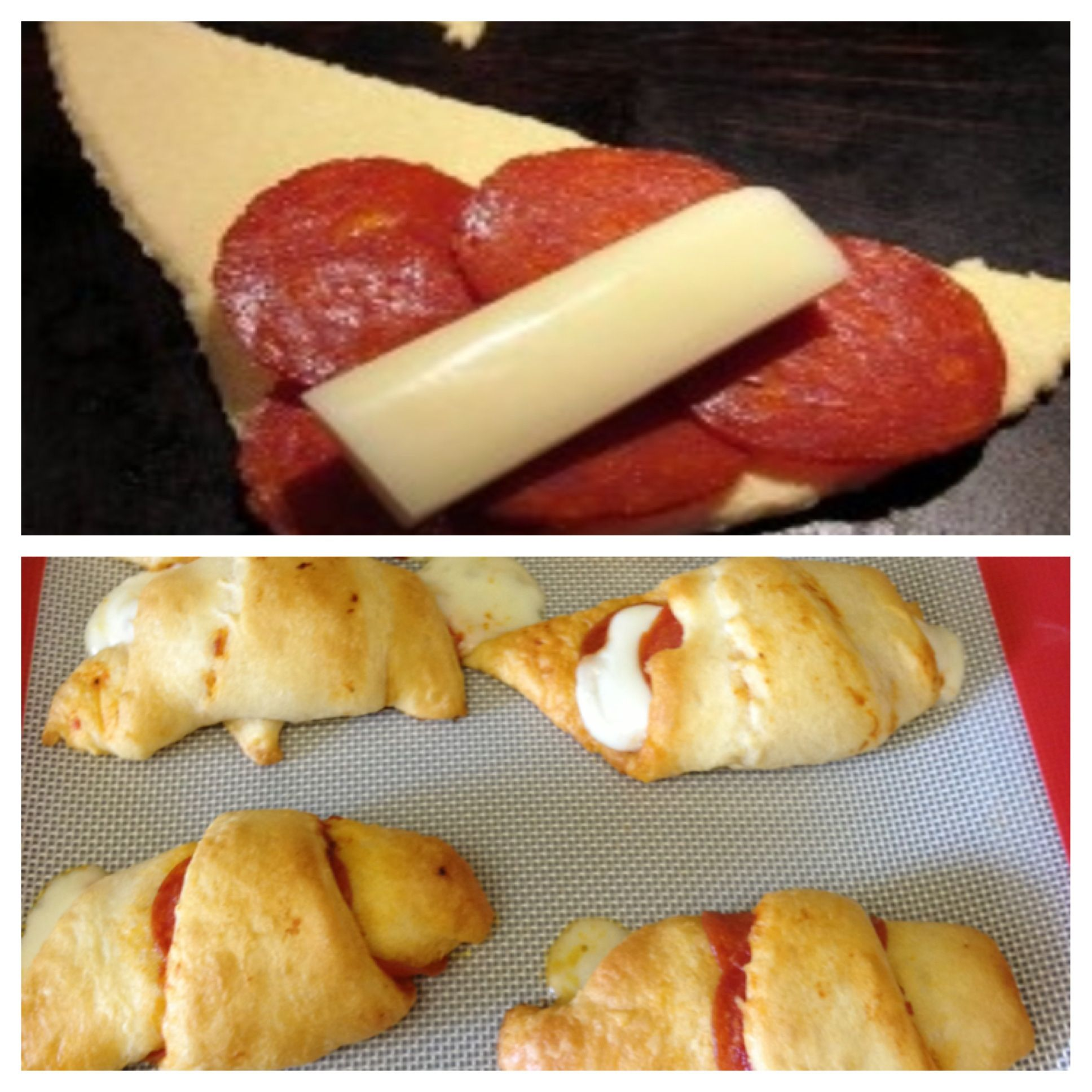 Crescent Pepperoni Cheese Roll Ups (my Attempt)