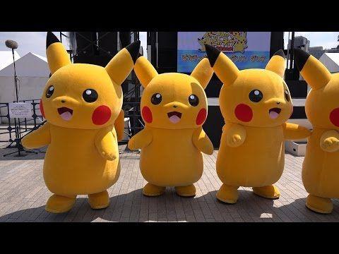 Pikachu event 2015 line dance YouTube Cute pikachu