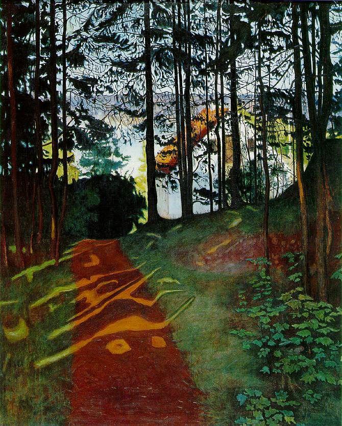 Harald Sohlberg (Norwegian, 1869-1935) Sun Gleam, 1894 Oil on canvas via birdsong217