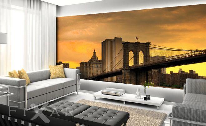 Die Wohnzimmer von New York Fototapete fürs Wohnzimmer Pinterest