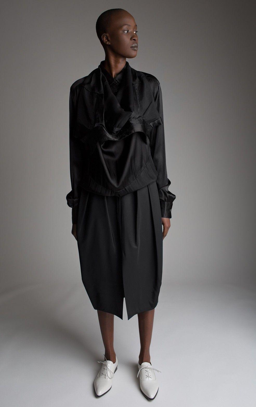 Jean Collona Double Shirt Dress Koos van den Akker Skirt Designer Vintage Fashion