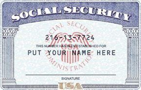Psd+Ssn+Template+Social+Security+Number+Soci | Card ...