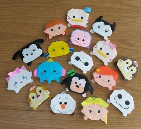 折り 折り紙 折り紙 キャラクター ディズニー : pinterest.com