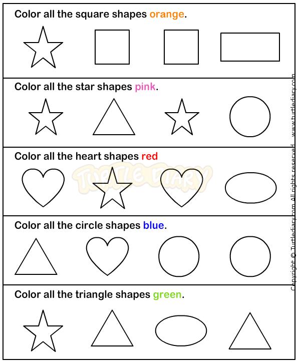 Shapes2 - math Worksheets - preschool Worksheets