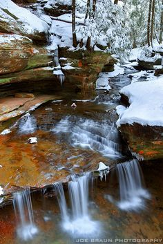Old Man's Cave during Winter, Hocking Hills, Ohio © 2010 Joe Braun Photography