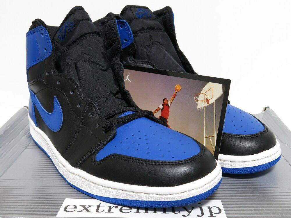 162c158373f0 eBay  Sponsored DS 2001 NIKE AIR JORDAN 1 RETRO black royal blue 136066-041  sz 11