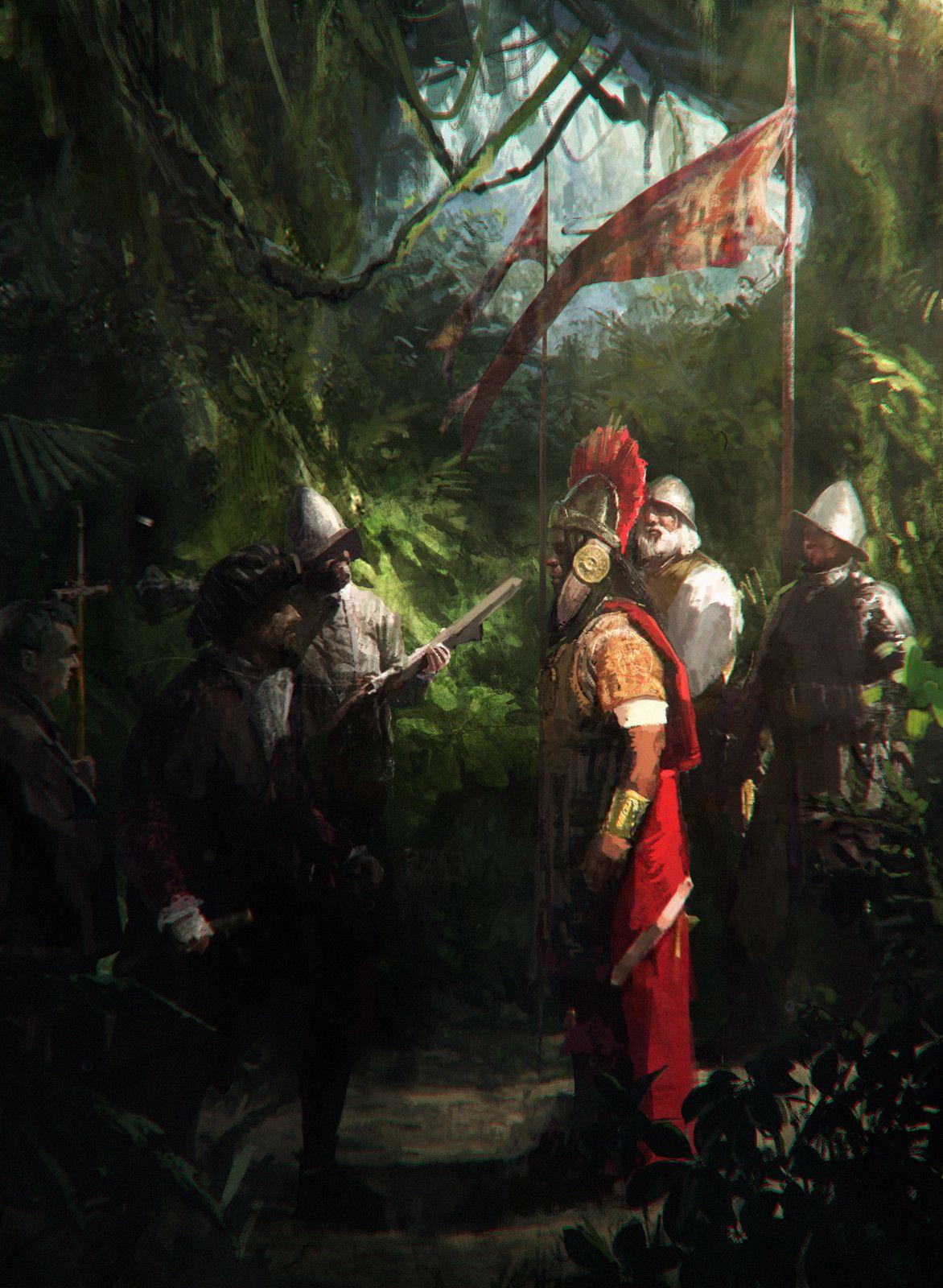 Royal Hunt of the Sun, Saby Menyhei on ArtStation at https://www.artstation.com/artwork/R5BQy