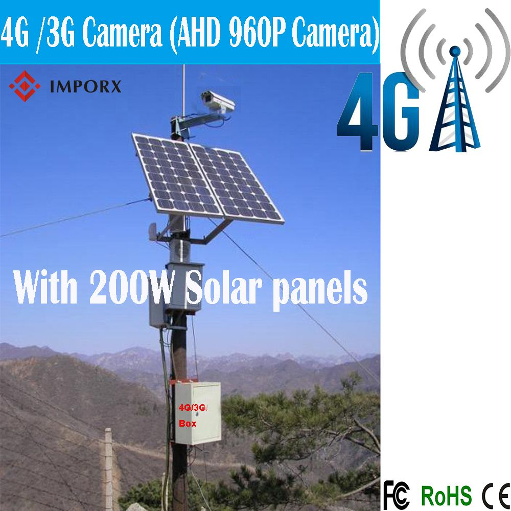 4g 3g Solar Power Camera 1 3mp Hd 960p P2p Onvif Ptz Vision Cctv Ahd Camera With 200w Solar Panels Solar Camera Ip Camera Bullet Camera