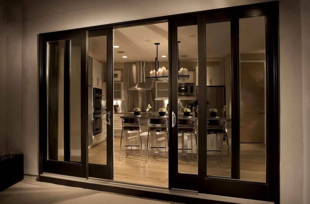 4 Panel Sliding Glass Patio Doors For Modern Kitchen And Dining Room Inspirational Ideas