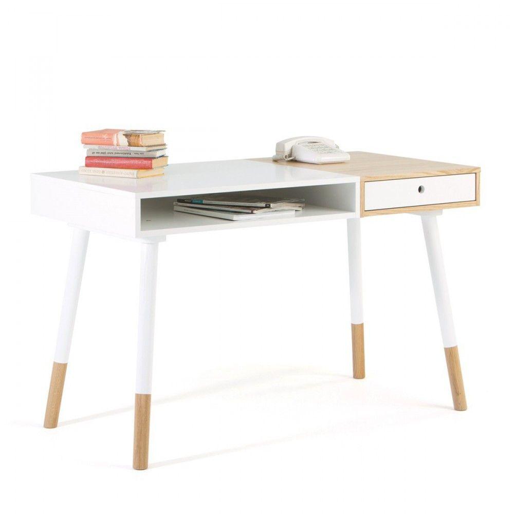 bureau design bois et blanc sonnenblick - Bureau Blanc Et Bois