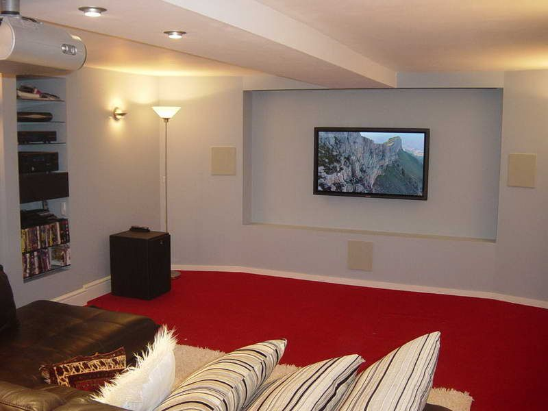 Basement Ceiling Options With Red Carpet