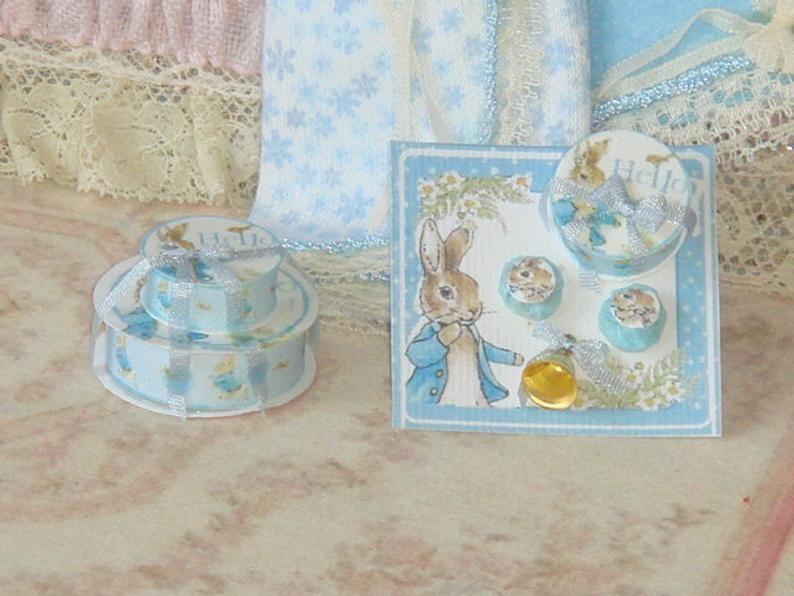 Miniature  Beatrix Potter  Tom Kitten Prints Dollhouse 1:12 scale