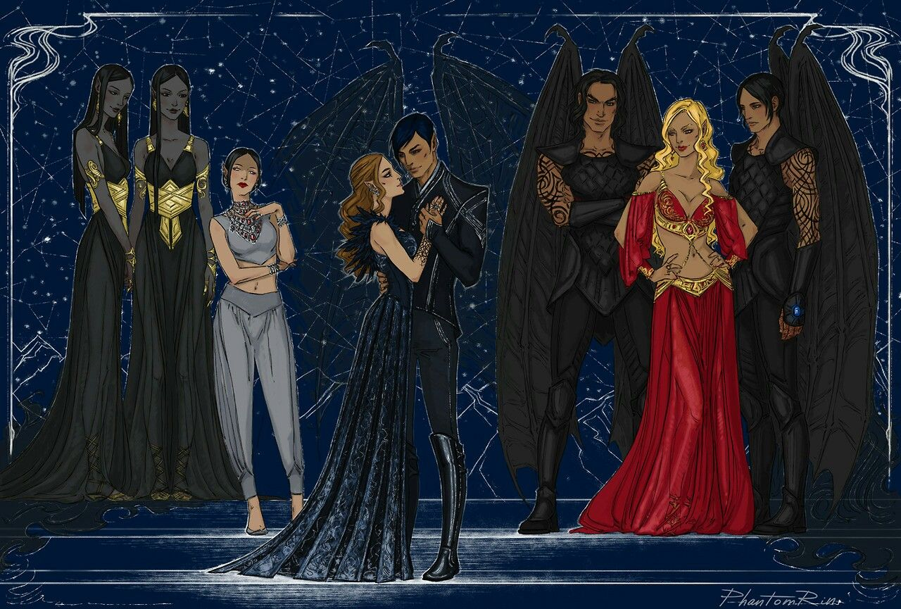 Inner Circle Fan Art A Court Of Mist And Fury Feyre And Rhysand